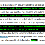 Script.js settings for Boilerplate Admin
